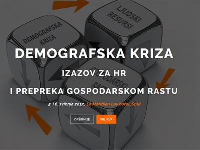 """10. HR Summit - PRIJAVI SE! Tema: """"Demografska kriza - Izazov za HR i prepreka gospodarskom rastu"""""""