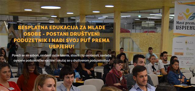 Novi ciklus besplatnih edukacija 'Most prema uspjehu' za mlade nezaposlene - prijavite se