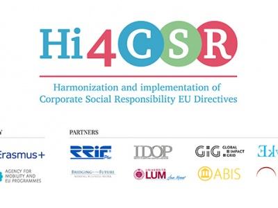 Hi4CSR projekt Vas poziva da saznate više o društvenoj odgovornosti i održivosti