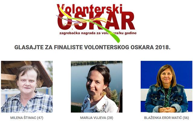 Glasajte za finalistice Volonterskog Oskara 2018.