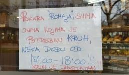 Pekara 'Romaja' besplatno dijeli kruh potrebitima