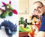 U kućnoj radinosti izrađuje igračke prema dječjim crtežima
