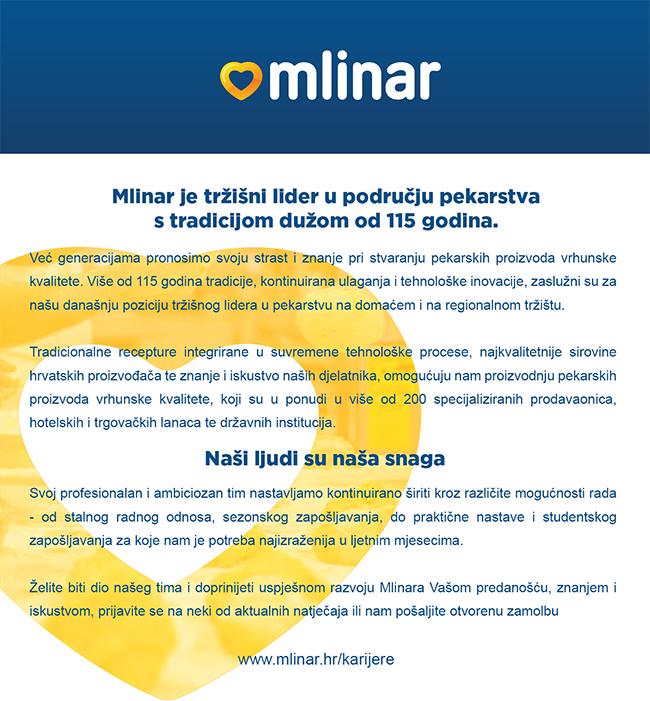 Mlinar d.d. - Profil poslodavca